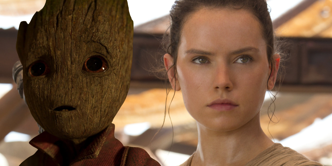 Star Wars 8 and Guardians of the Galaxy 2 - Groot and Rey