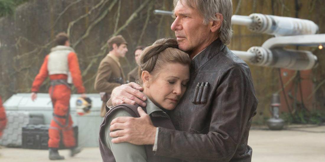 Star Wars - Leia and Han hugging