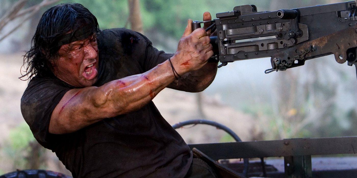 Sylvester Stallone in Rambo (2008).