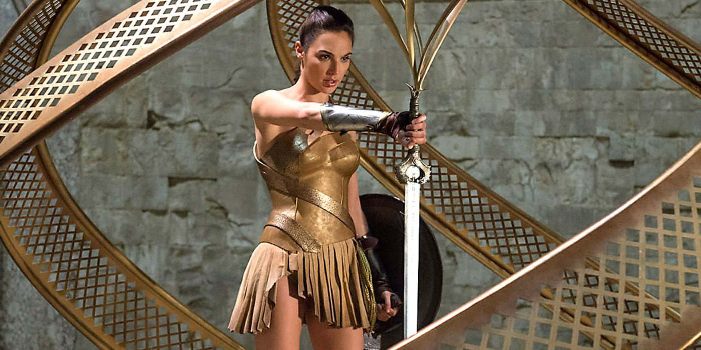 Wonder Woman (Gal Gadot) steals the God-Killer
