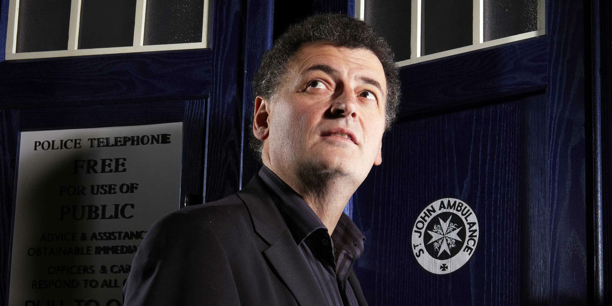 Doctor Who - Steven Moffat with TARDIS