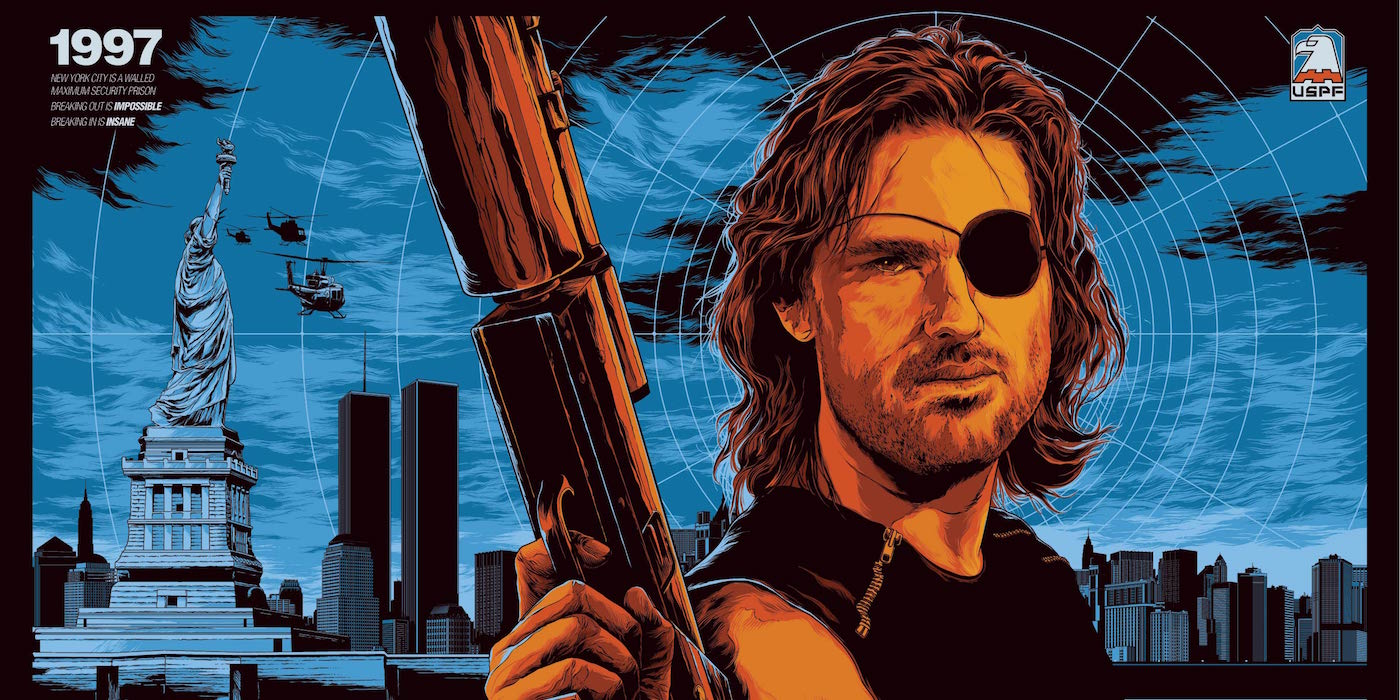 Escape from New York Poster Starring Kurt Russell as Snake Plissken