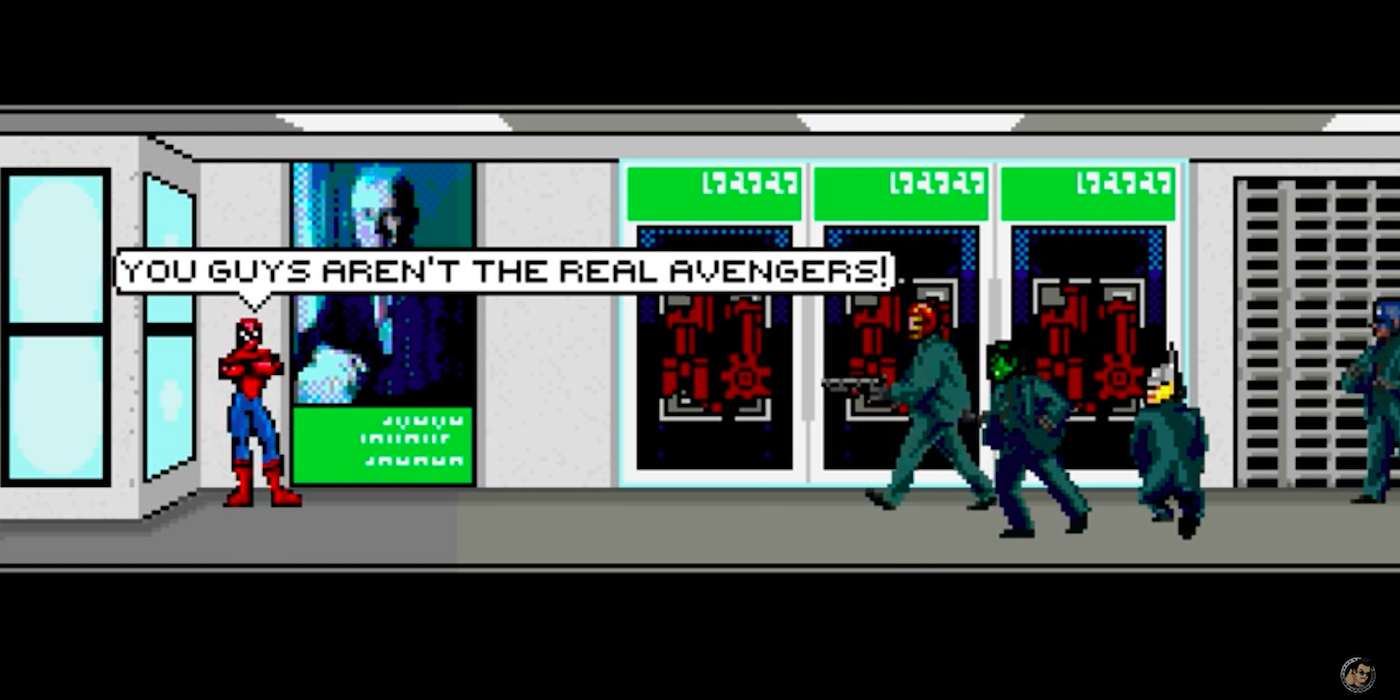 JoBlo 8-bit Spider-Man Homecoming Trailer with Spidey and the Avengers Bank Robbers