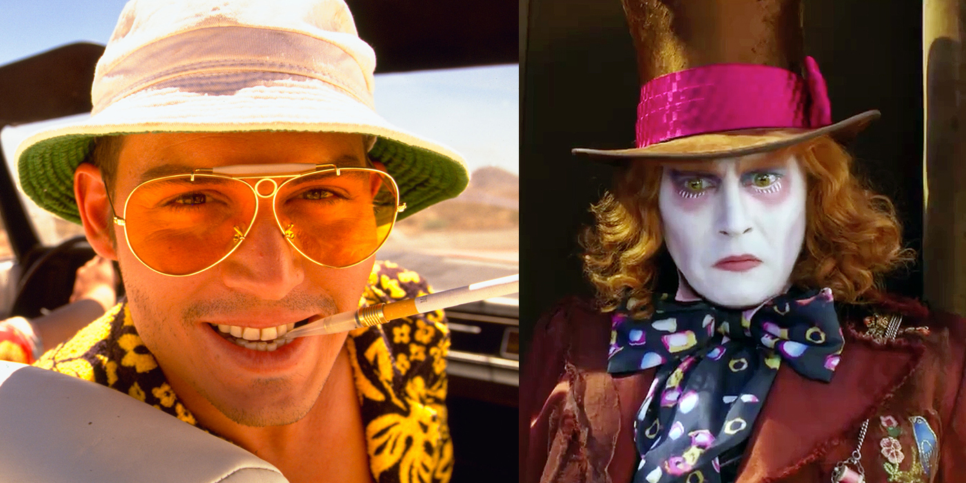 Johnny Depp Fear and Loathing and Alice in Wonderland