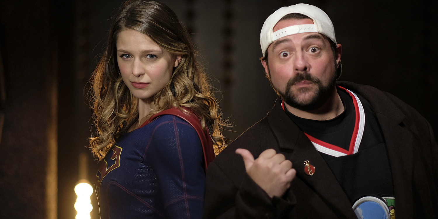Melissa Benoist and Kevin Smith Supergirl