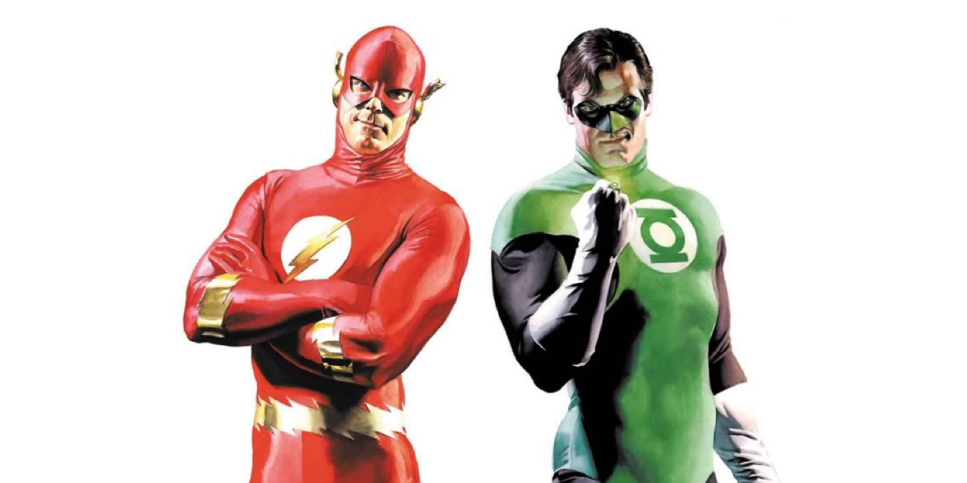 The Flash and Green Lantern Drawn by Alex Ross from DC Comics