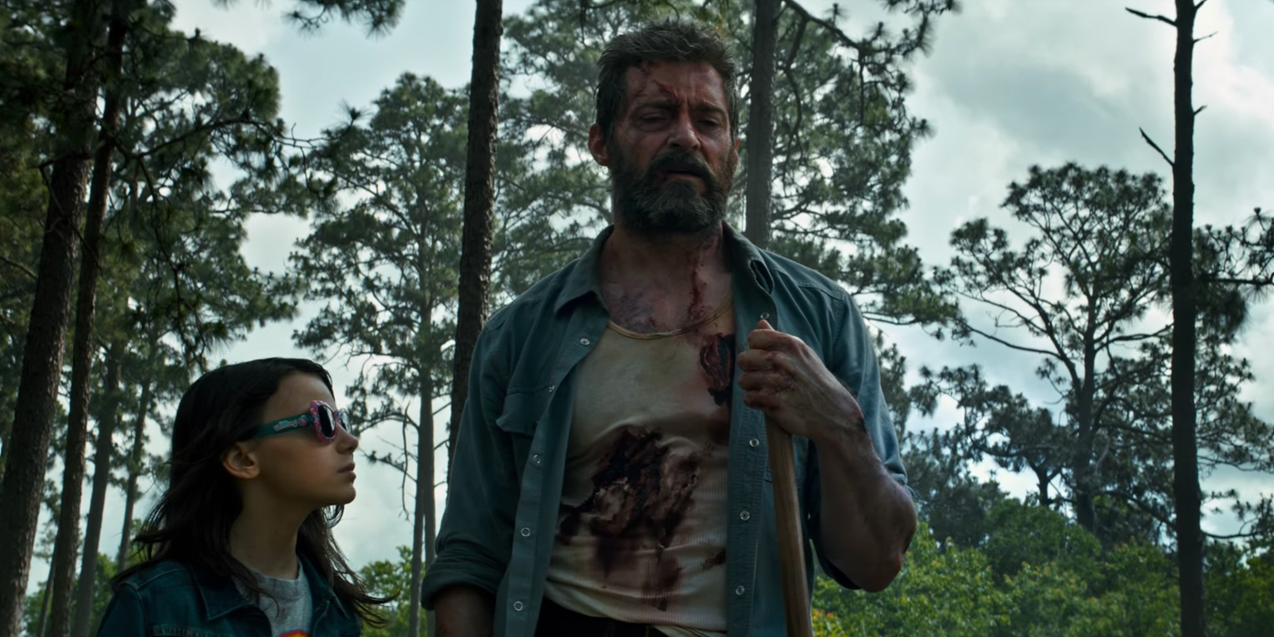 Wolverine with X-23 in Logan