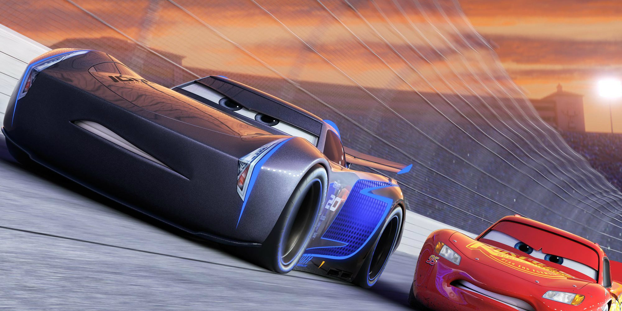 Cars 3 - Jackson Storm and Lightning McQueen