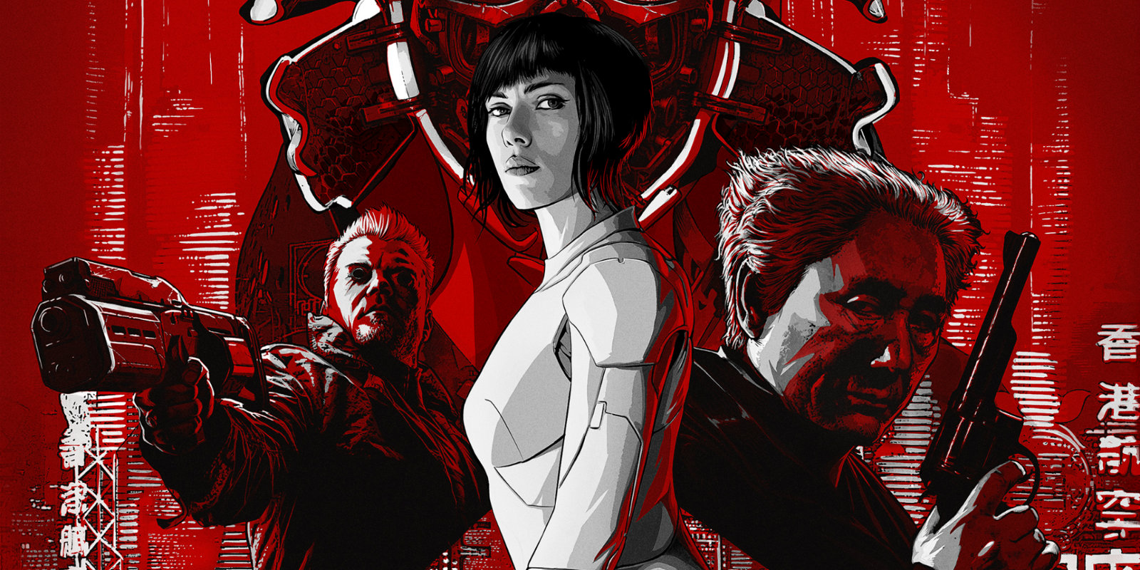 2017 Movie Posters: Ghost In The Shell (2017) Review