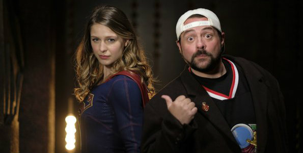 Supergirl 2017 midseason premiere - Kevin Smith on set