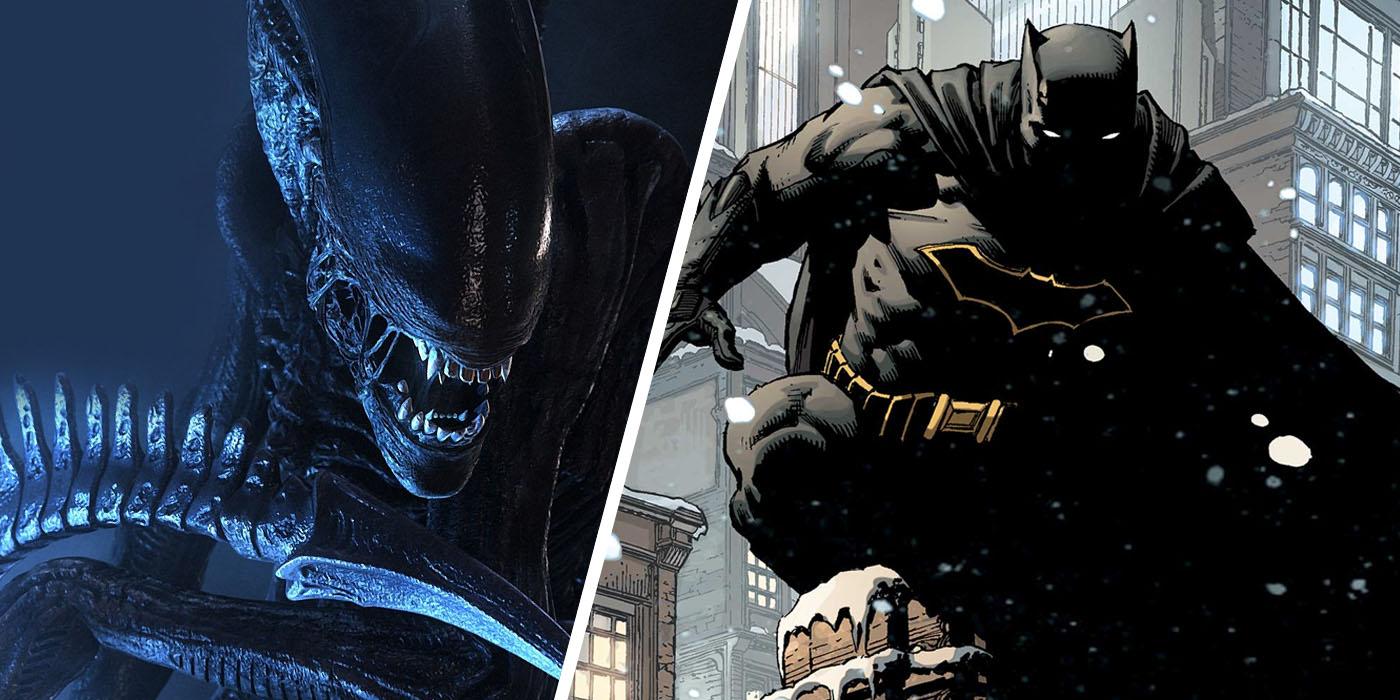 batman vs alien by - photo #23
