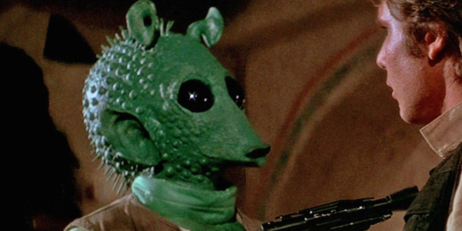 Greedo with Han Solo in Star Wars A New Hope