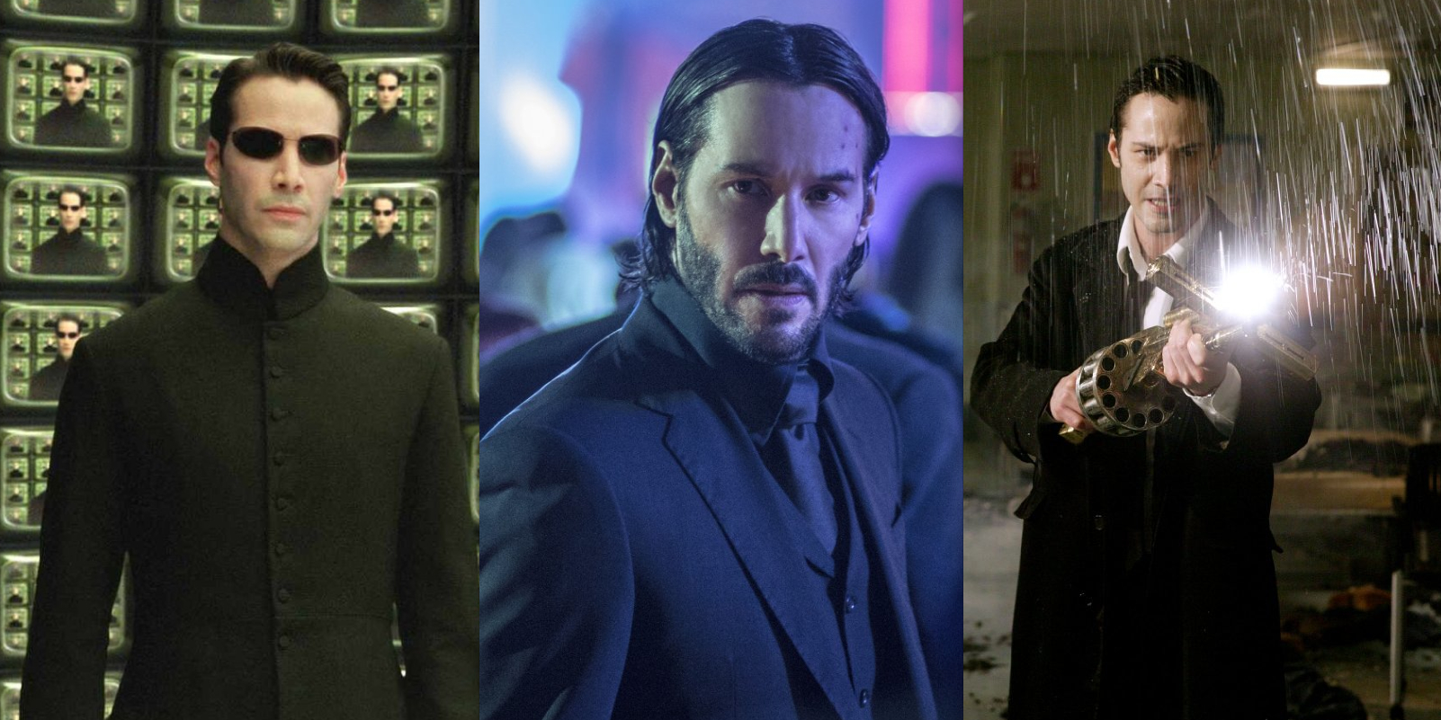 Keanu Reeves as Neo, John Wick and Constantine