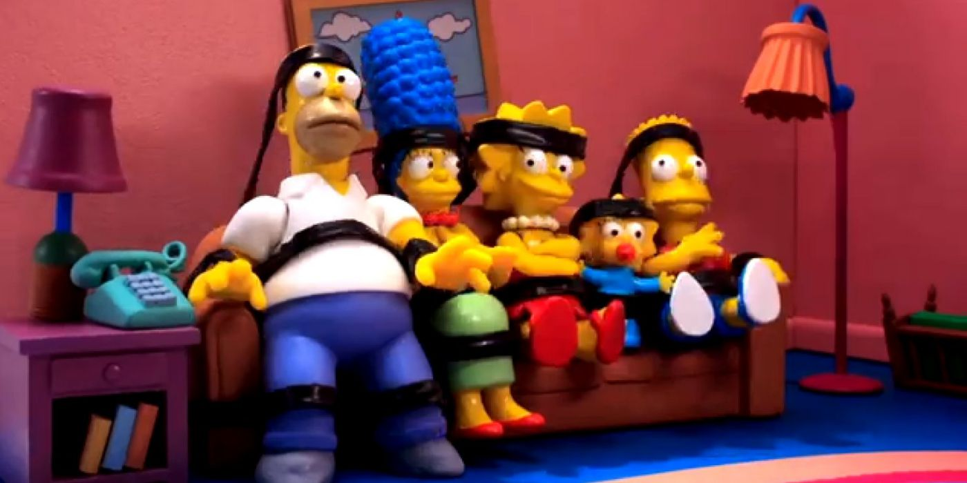 The Simpsons Couch Gag Goes Full Robot Chicken Screen Rant