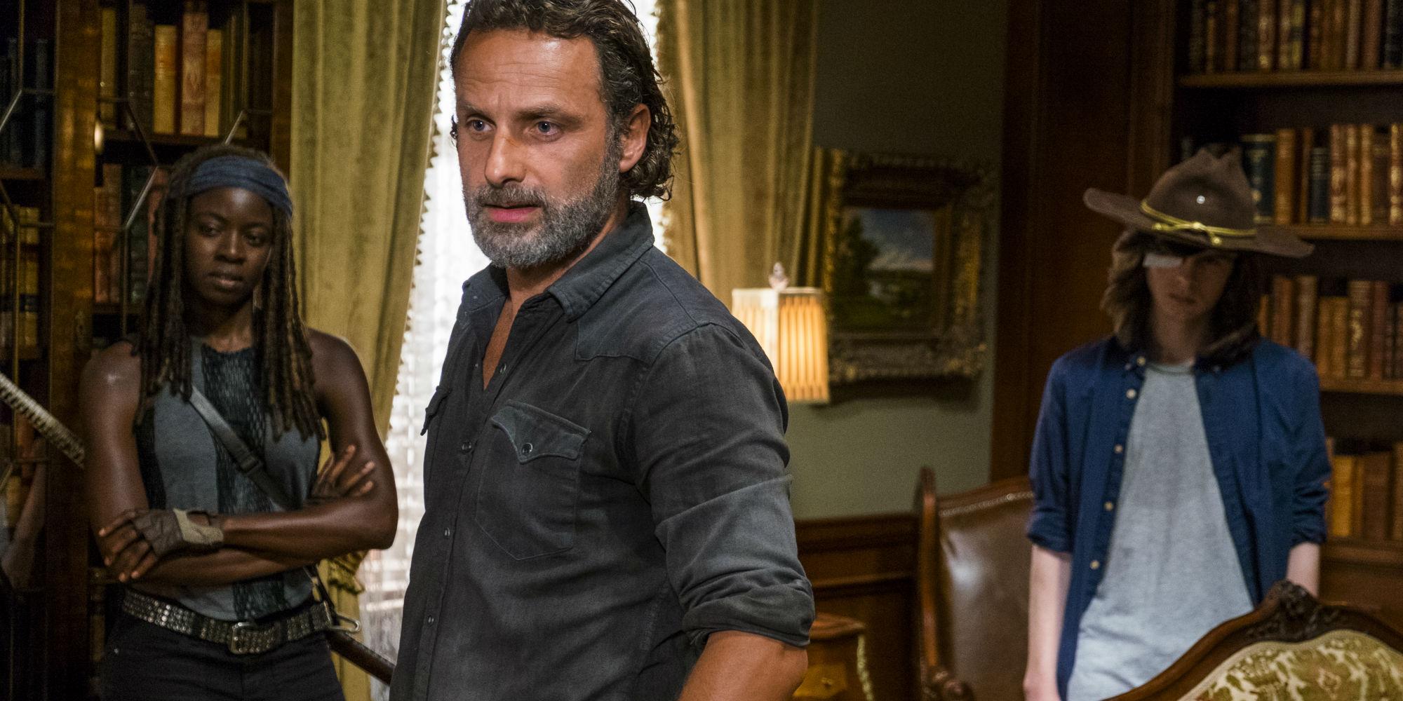 The Walking Dead Season 7 Midseason Premiere Michonne Rick Carl