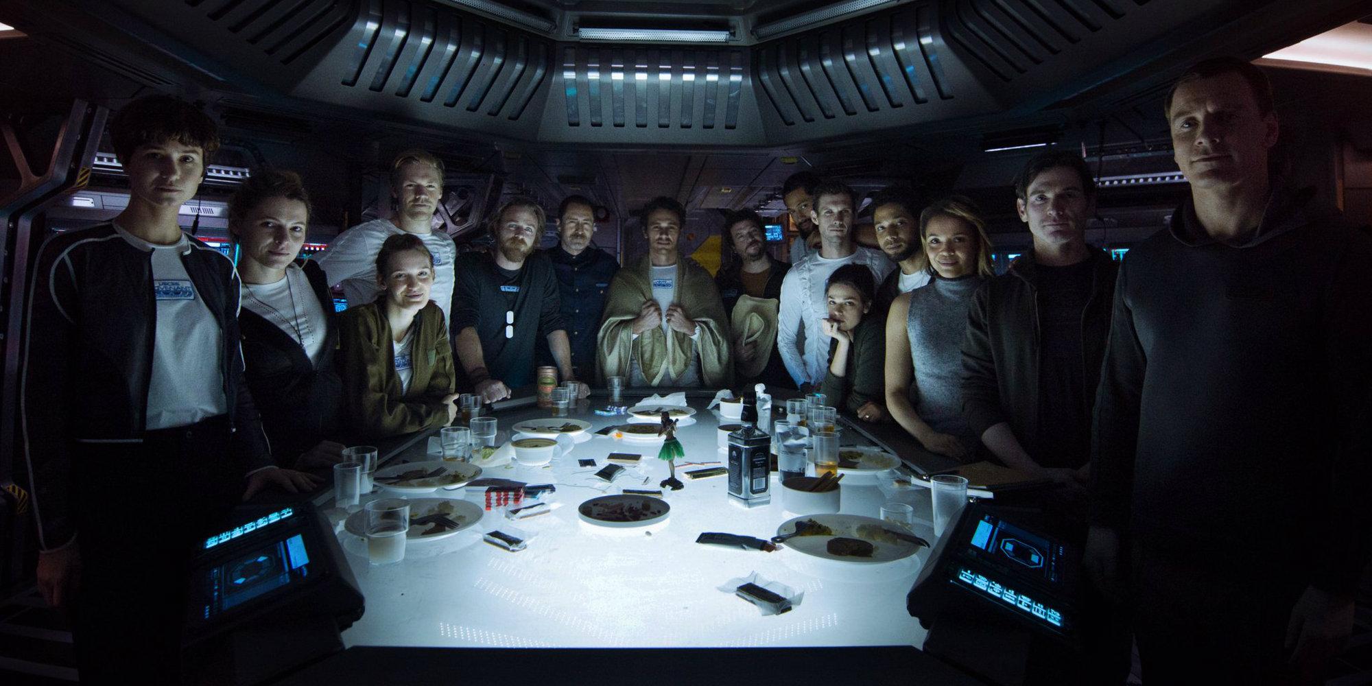 Alien: Covenant cast photo with James Franco