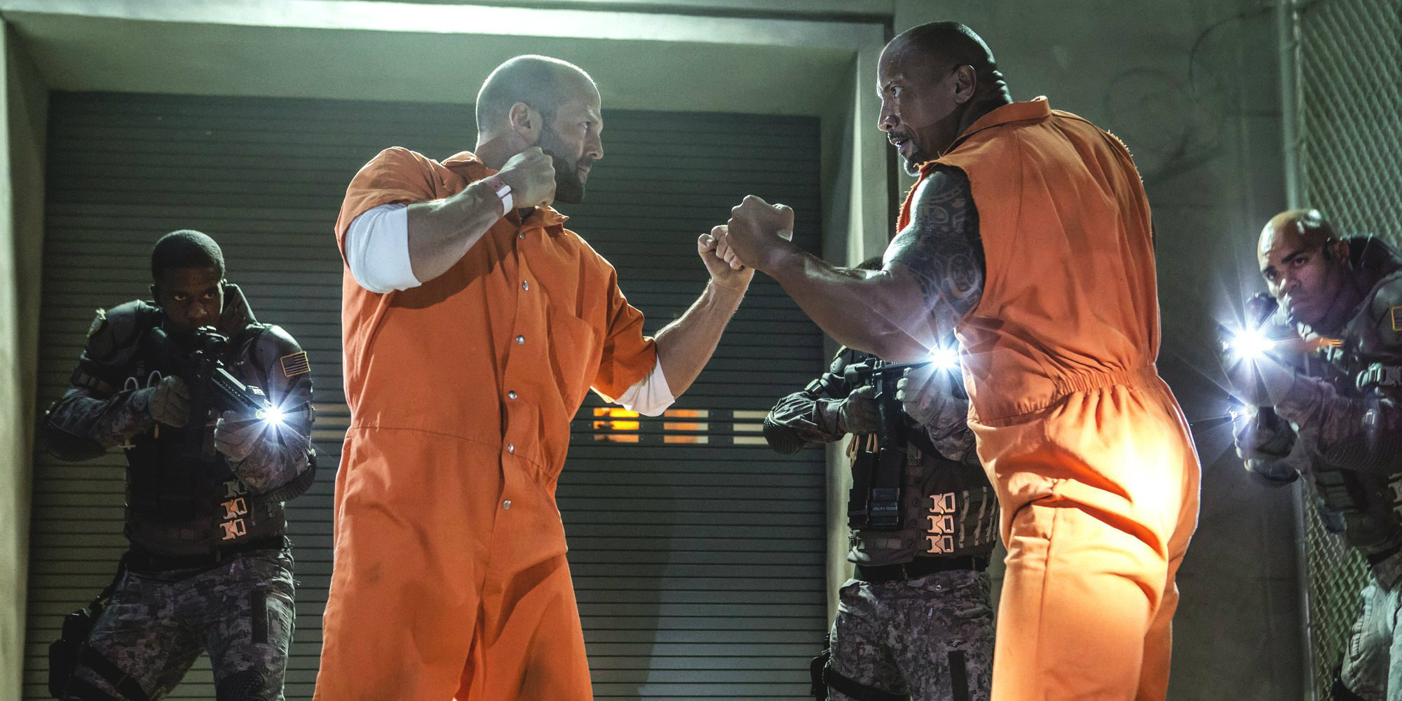 The Fate of the Furious - Jason Statham and Dwayne Johnson