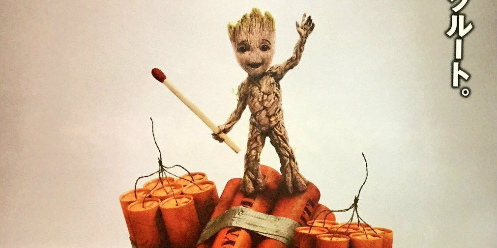 Guardians of the galaxy 2 groot plays with dynamite in - Guardians of the galaxy 2 8k ...