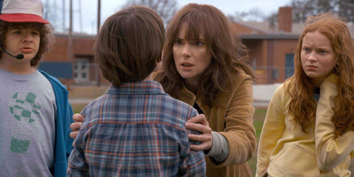 Stranger Things season 2 - Dustin, Will, Will's mom and Max
