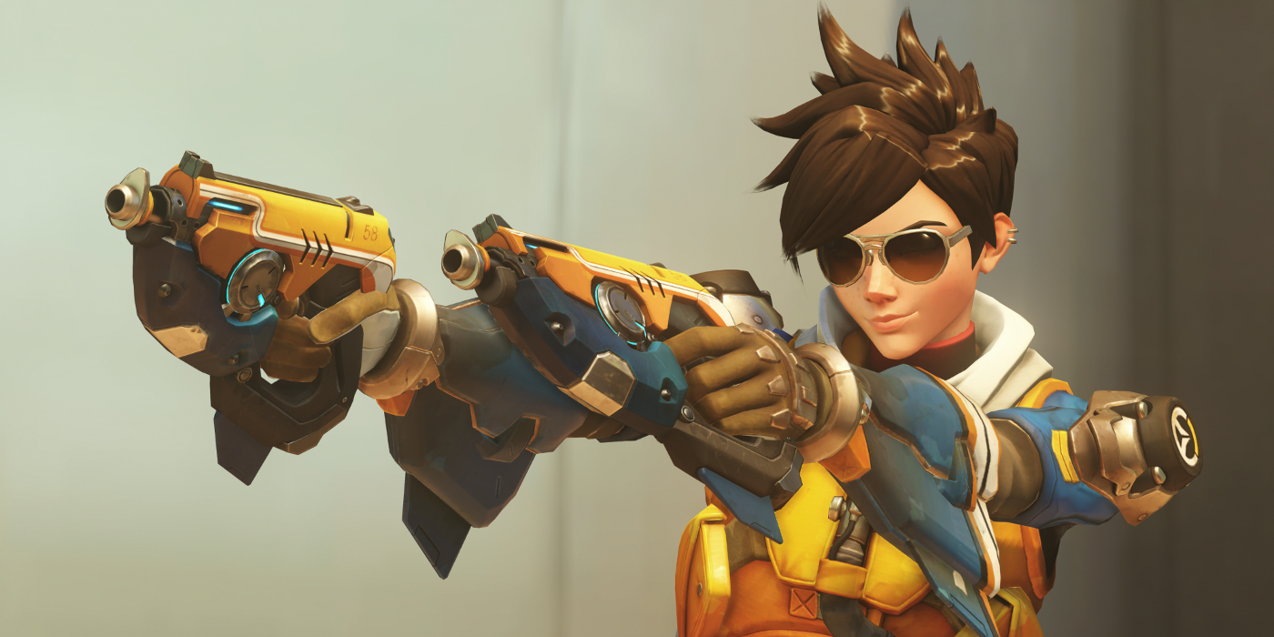 Tracer's Slipstream outfit featured in Overwatch