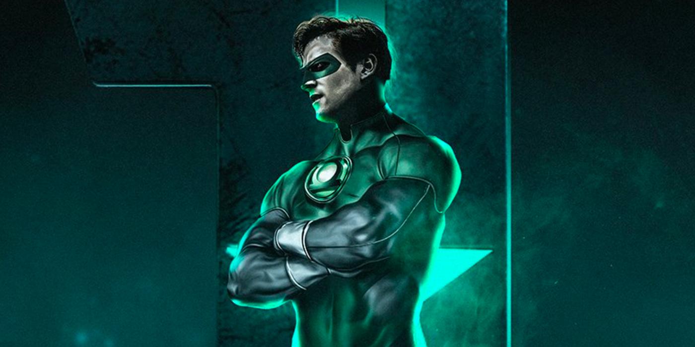 fan made green lantern justice league poster