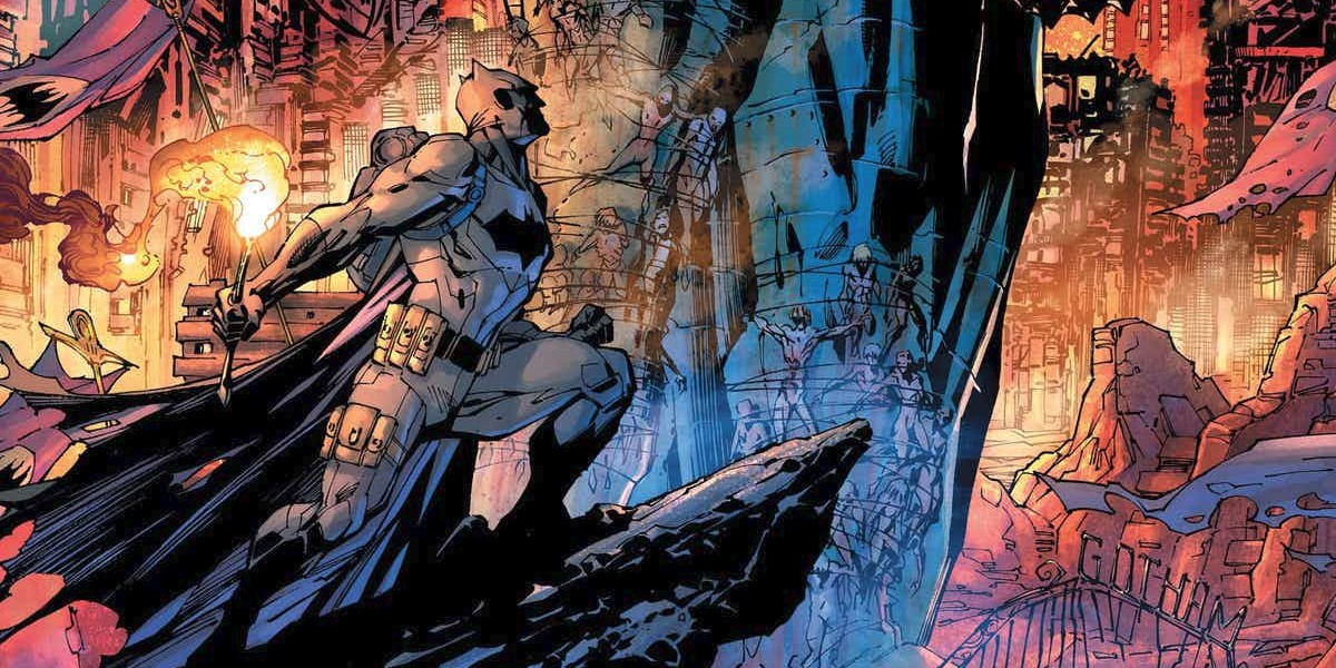 Batman Dark Days Forge Cover DC Teases Crazy Summer Blockbuster Comic Event