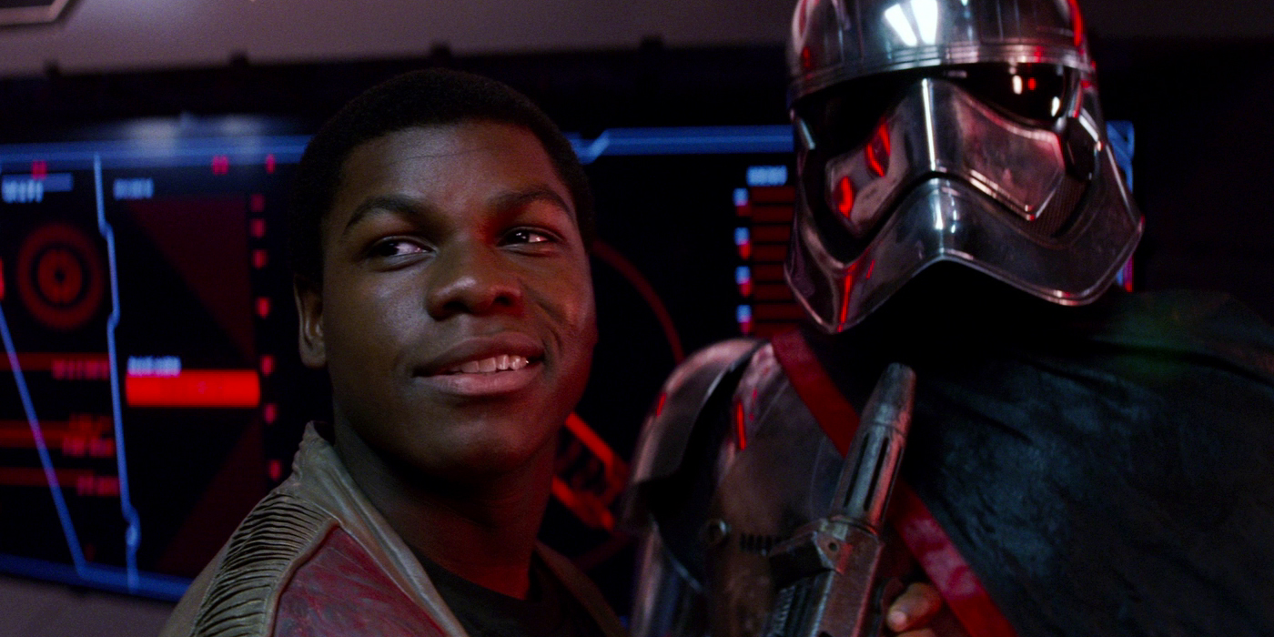 Finn and Captain Phasma in Star Wars The Force Awakens