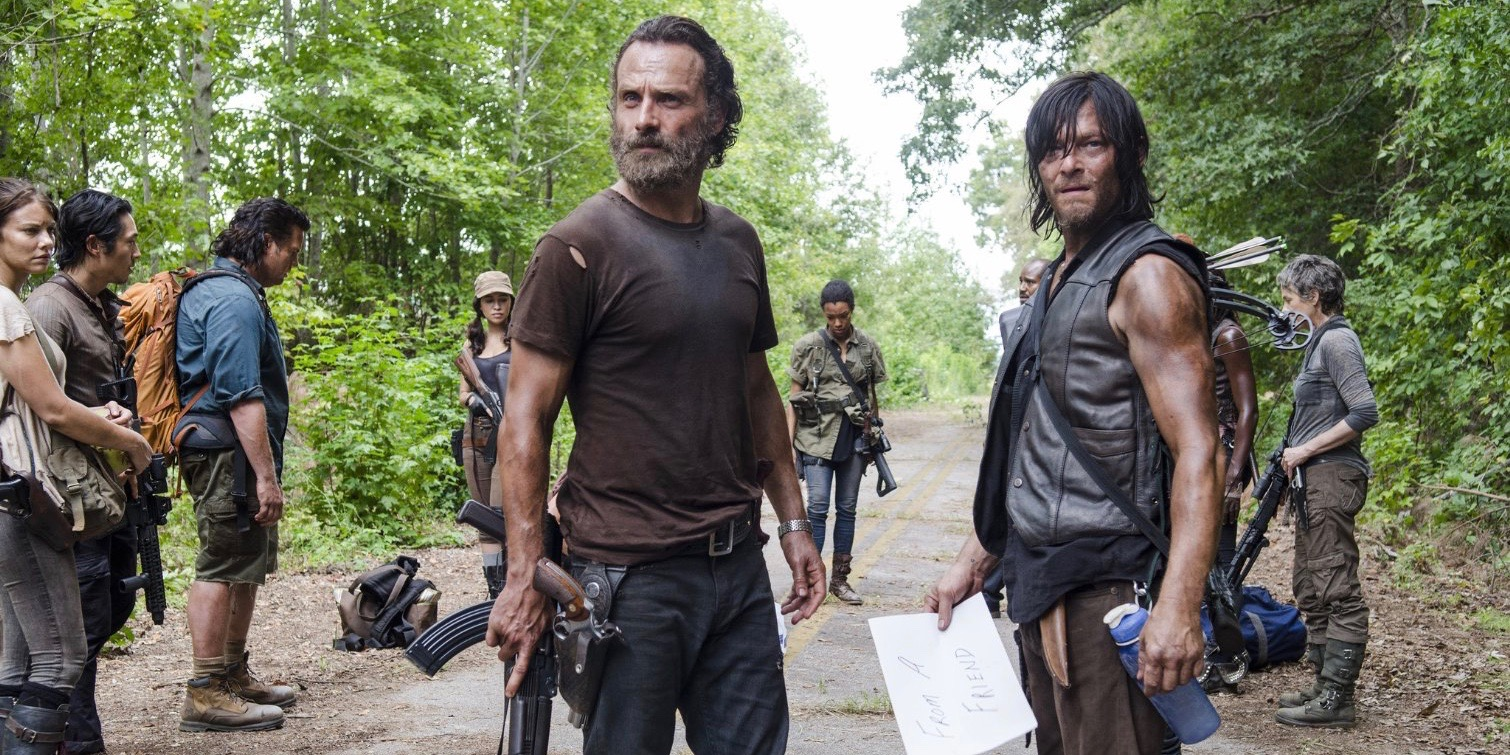 Rick and Daryl in The Walking Dead