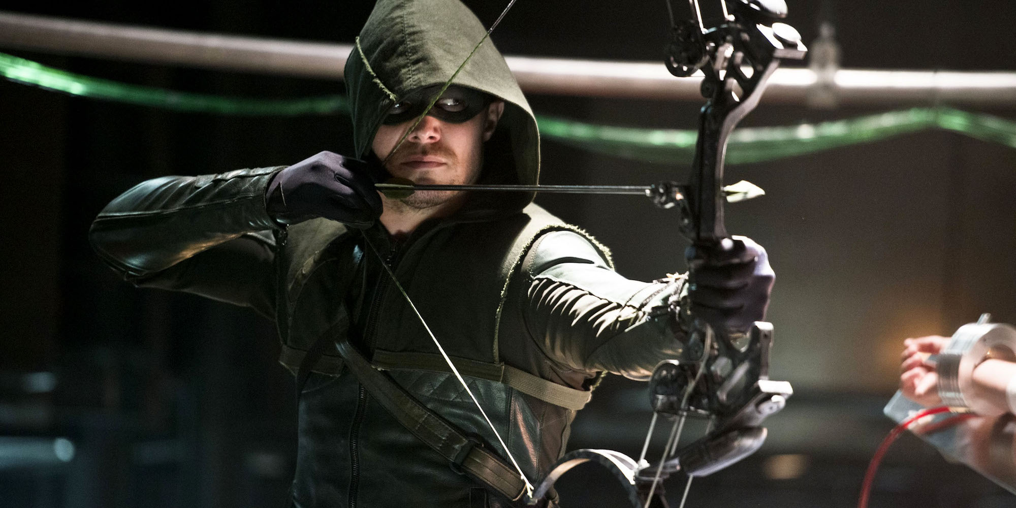 Stephen Amell as Oliver Queen the Green Arrow on the CW's Arrow