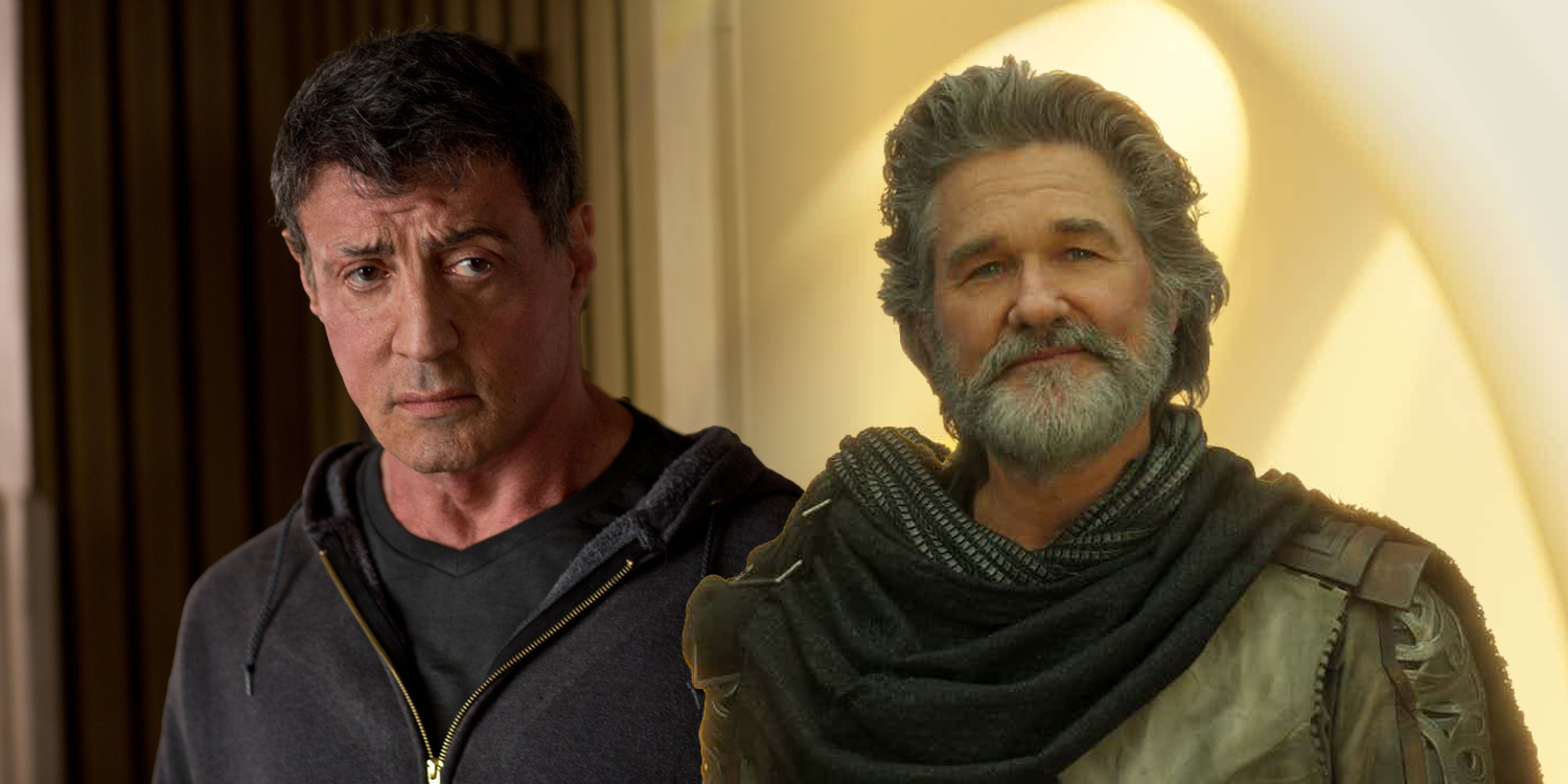 Sylvester Stallone and Kurt Russell Marvel