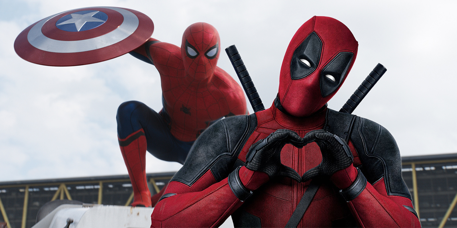 Tom Holland as Spider-Man and Ryan Reynolds as Deadpool