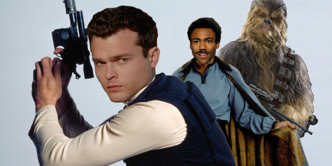 Alden Ehrenreich as Han Solo Donald Glover as Lando and Chewbacca Star Wars Fan Art