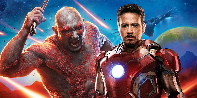 Avengers Infinity War Drax Tony Stark Iron Man