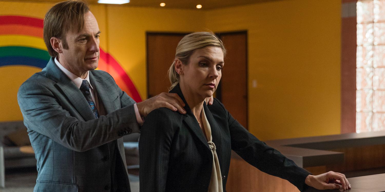 Bob Odenkirk and Rhea Seehorn in Better Call Saul Season 3