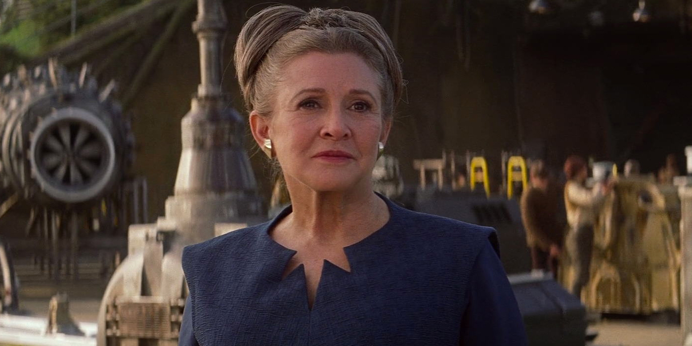 Carrie Fisher as General Leia in Star Wars The Force Awakens