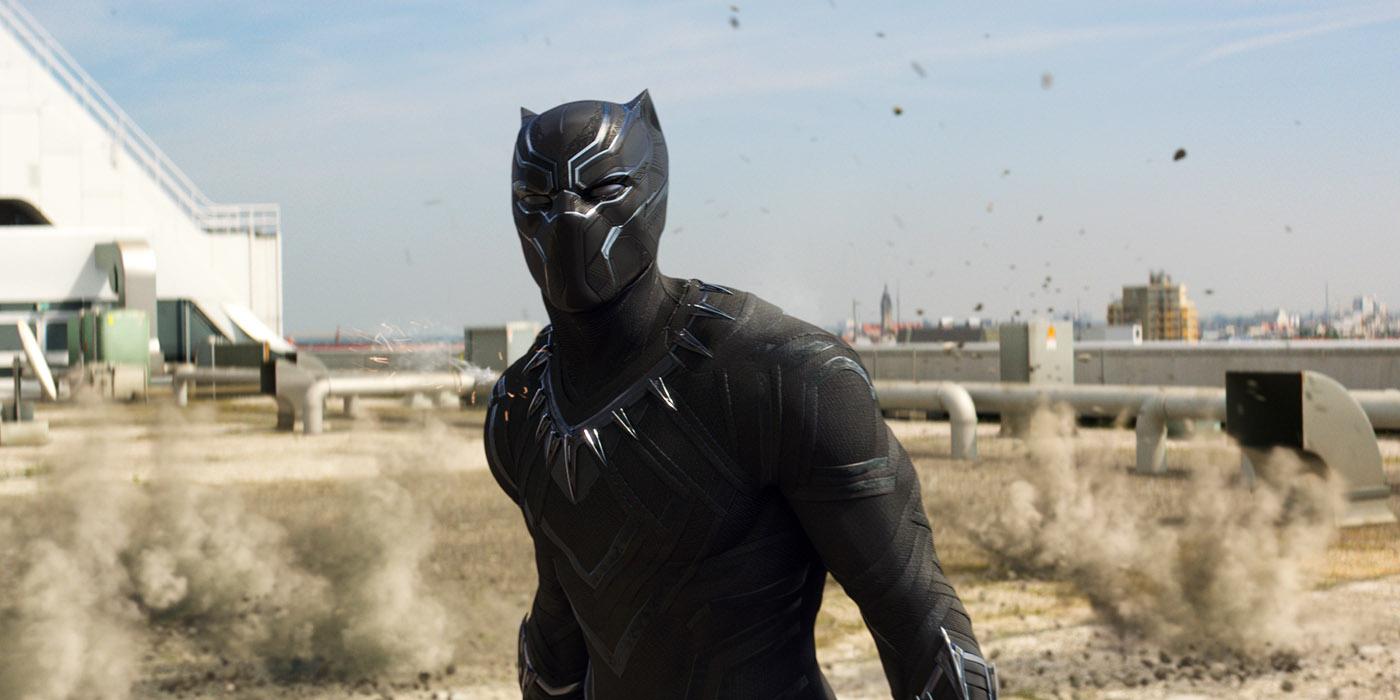Chadwick Boseman as Black Panther in Captain America Civil War