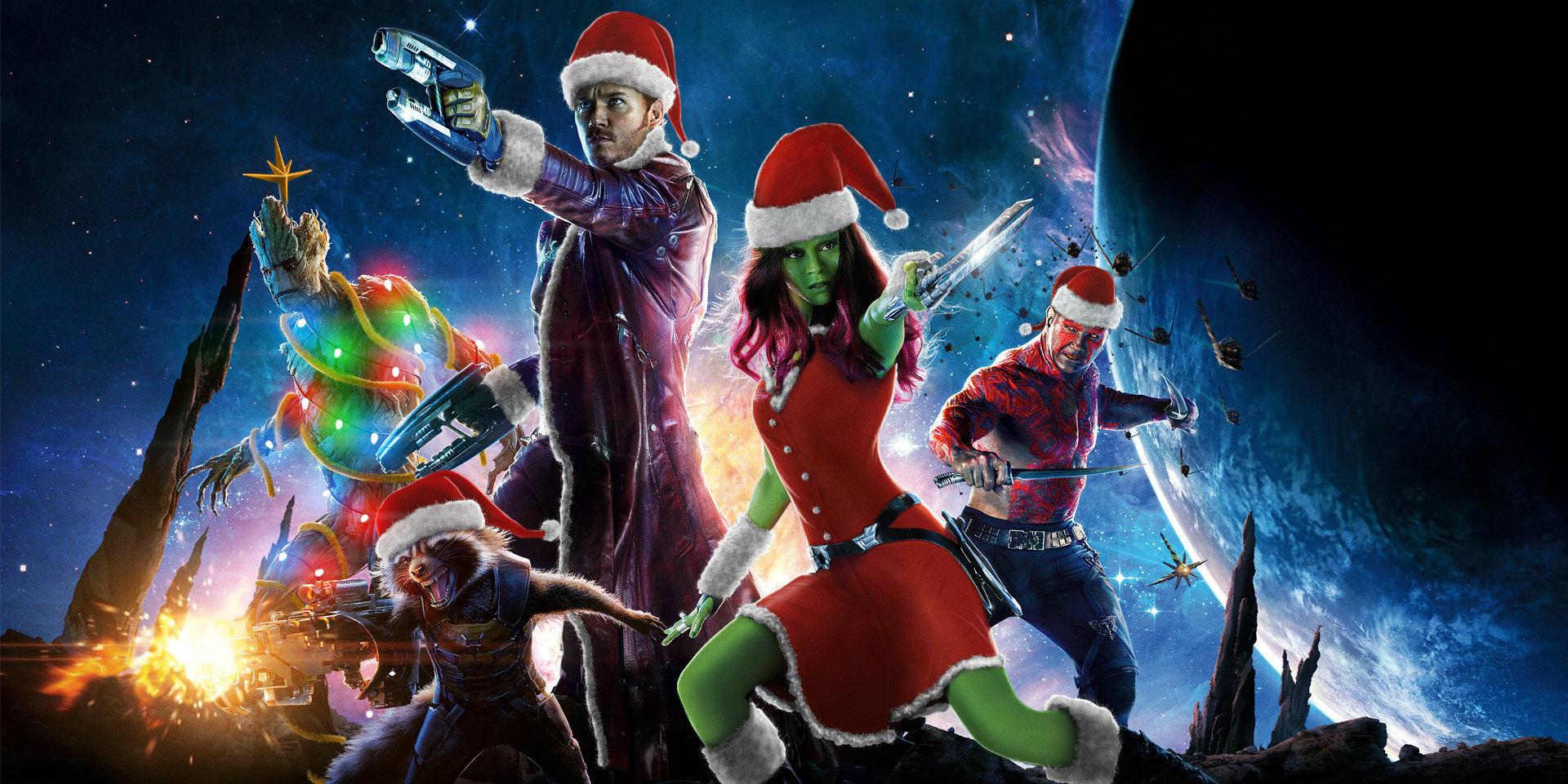 James gunn wants guardians christmas special screen rant - Galaxy christmas wallpaper ...
