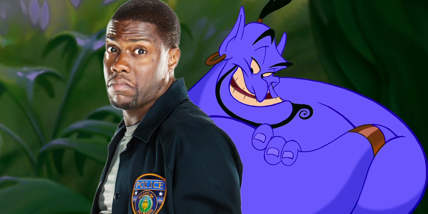 Kevin Hart and Robin Williams Genie in Aladdin