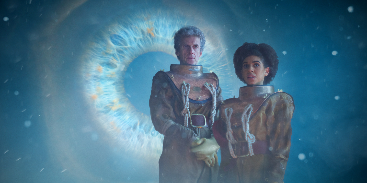Peter Capaldi Pearl Mackie in Doctor Who Season 10 Thin Ice