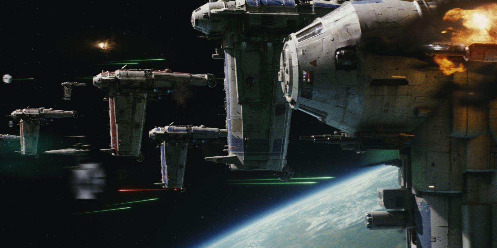 Star Wars The Last Jedi teaser trailer - Space battle