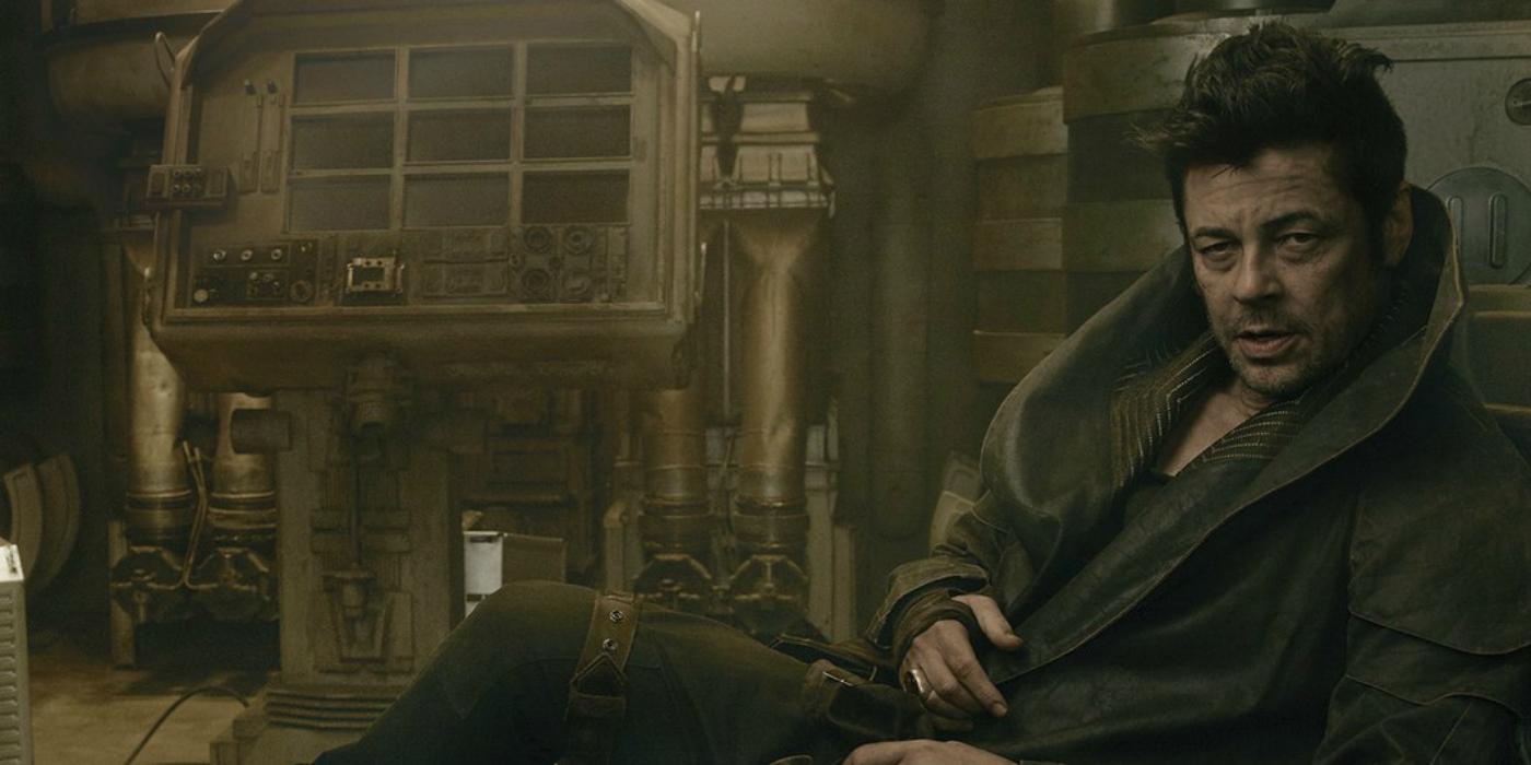 Benicio Del Toro as DJ in Star Wars The Last Jedi