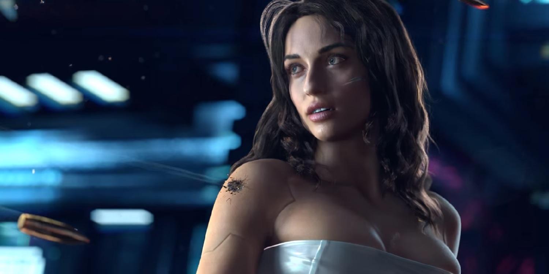 Cyberpunk Cyborg Girl Blocking Bullets