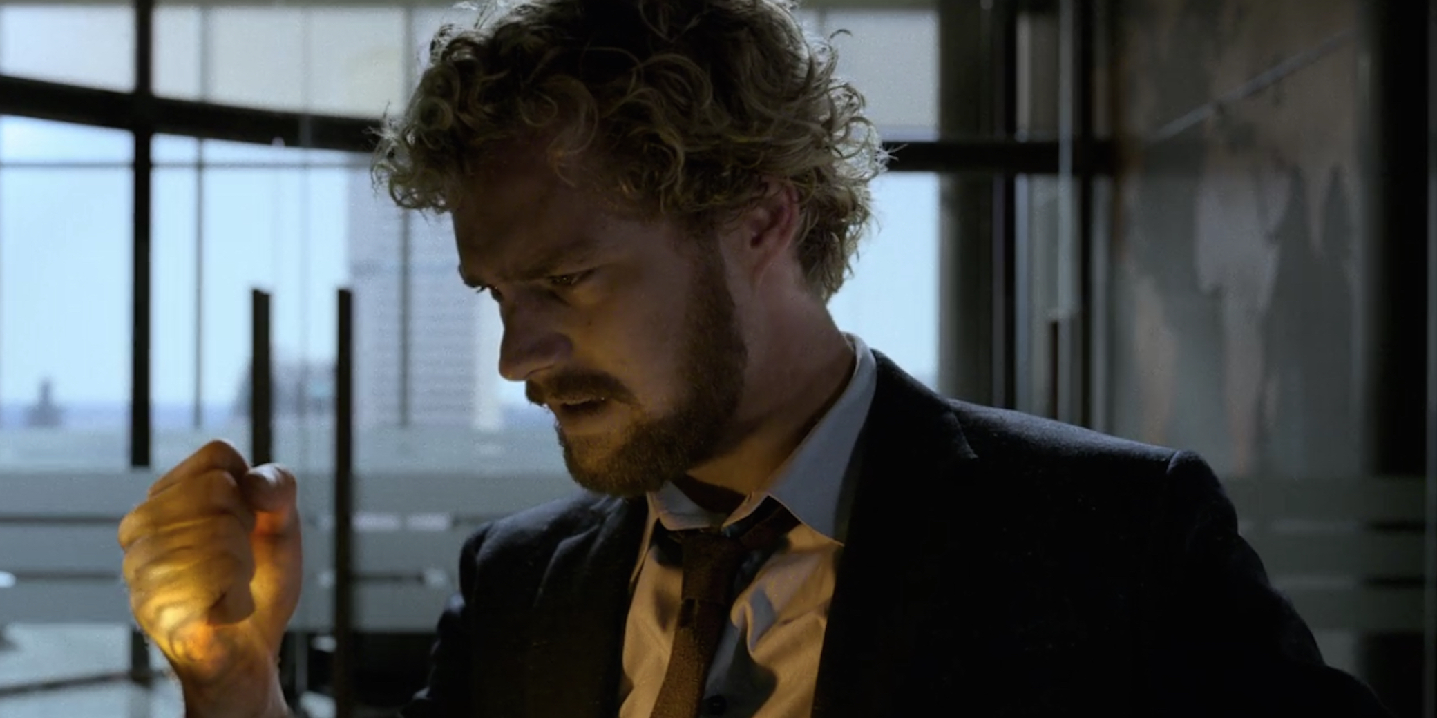 Danny in Iron Fist 1x07 Felling Tree With Roots
