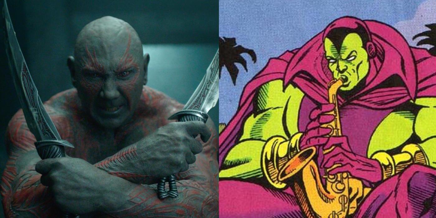 Drax The Destroyer Vs Venom: Guardians Of The Galaxy Movies Vs Comics