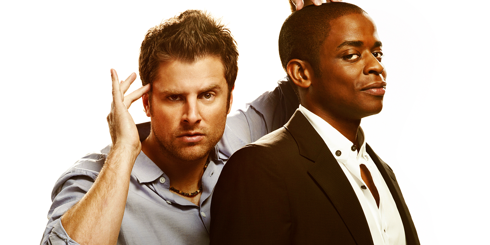 James Roday and Dule Hill in Psych