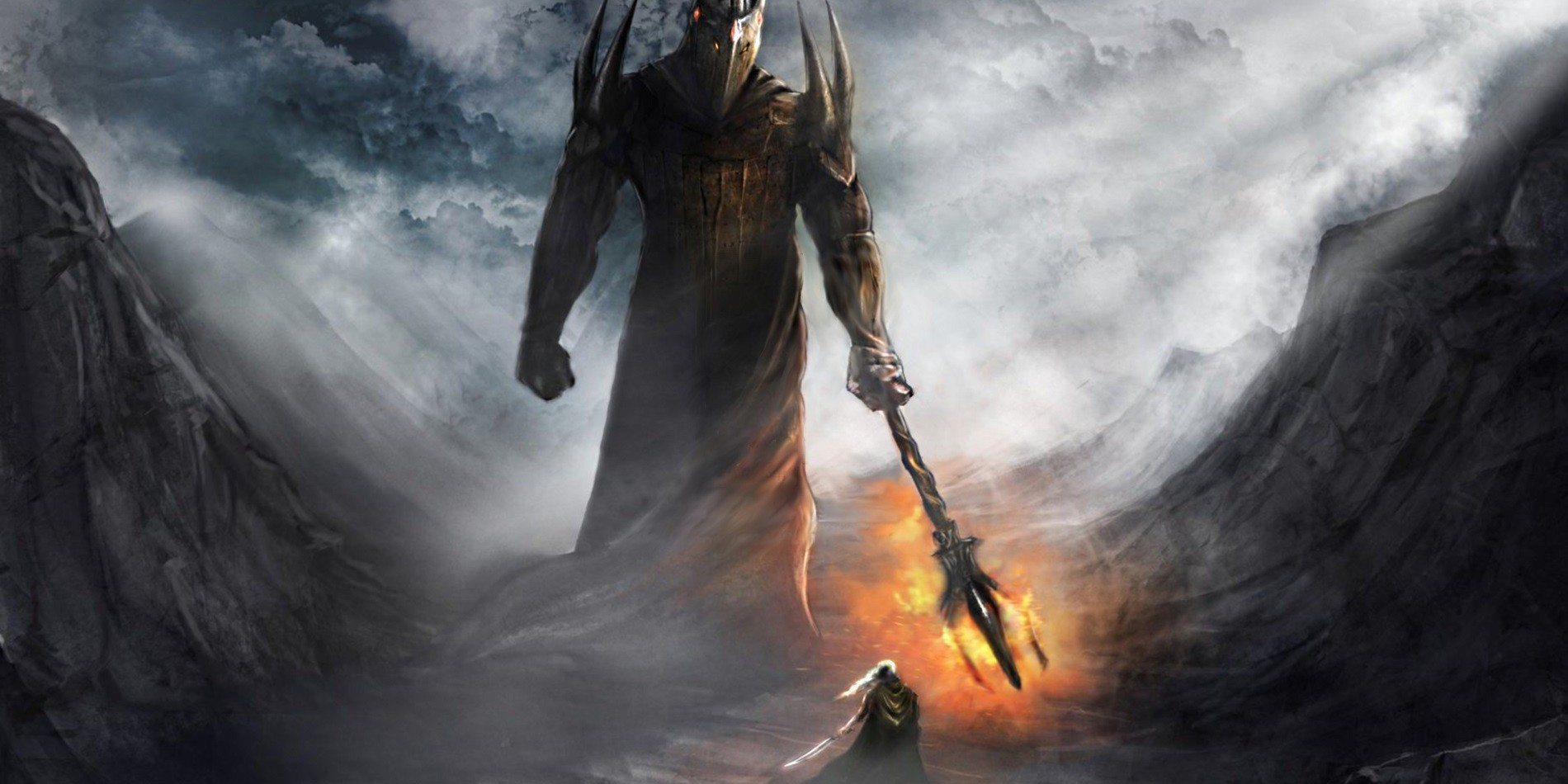 Sauron Mairon and Morgoth Melkon in Tolkien Lord of the Rings