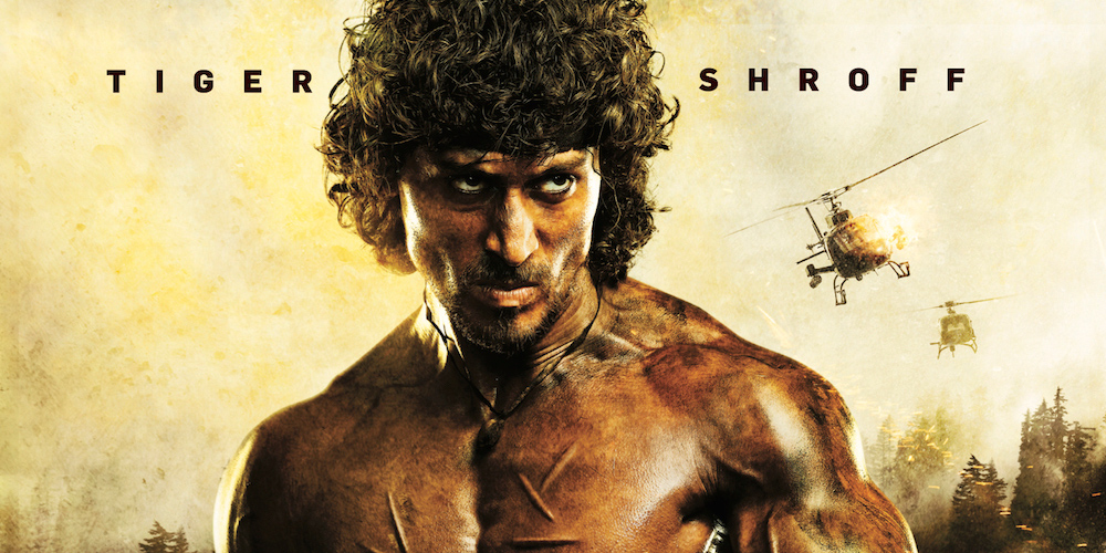 Tiger Shroff as Rambo in the Indian Remake