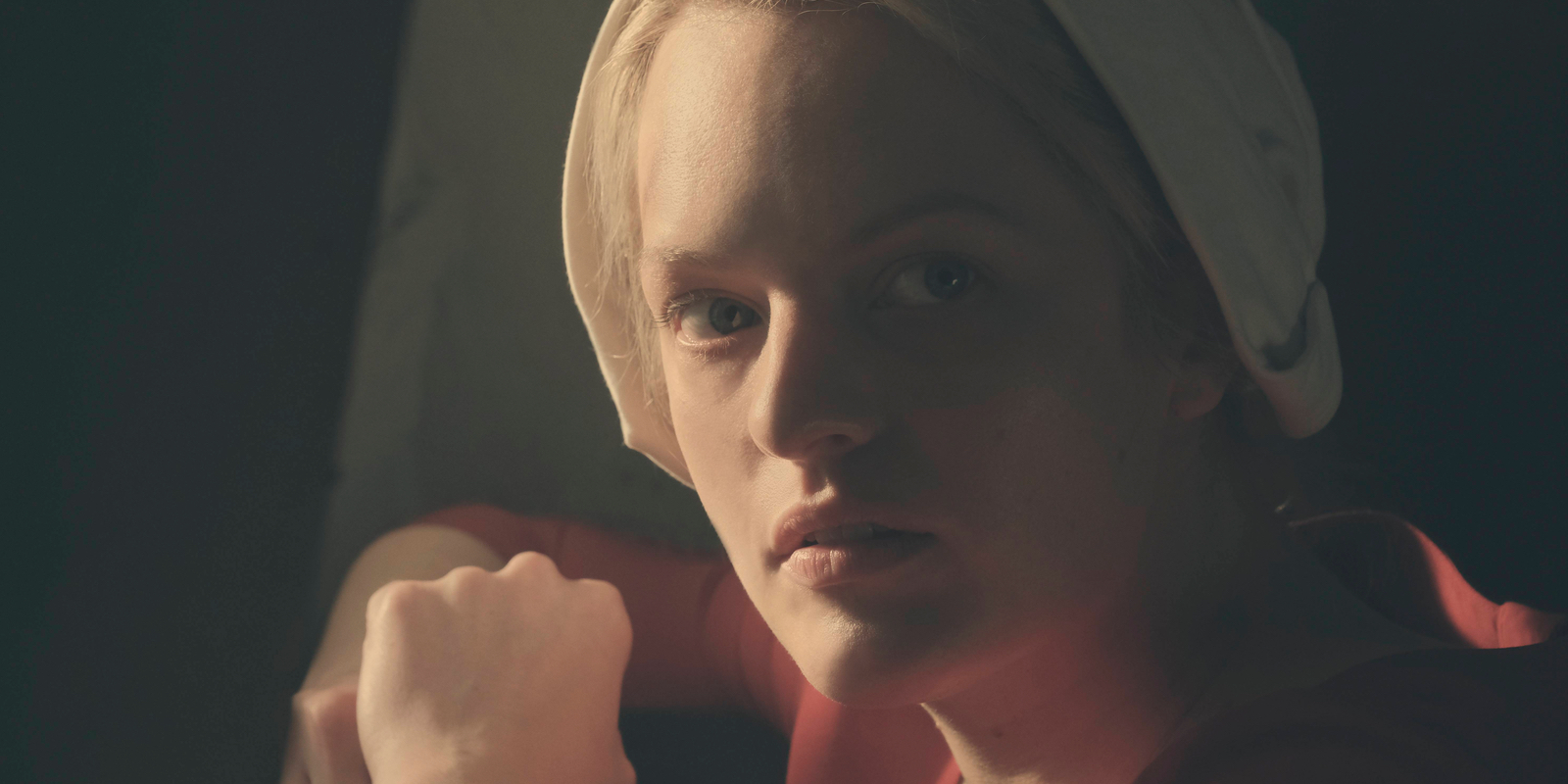 Elisabeth Moss in The Handmaid's Tale Season 1 Finale