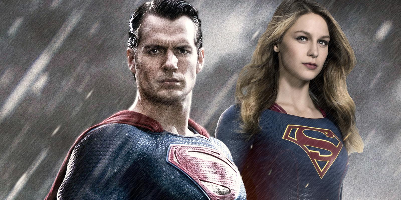 Henry Cavill and Melissa Benoist Man of Steel