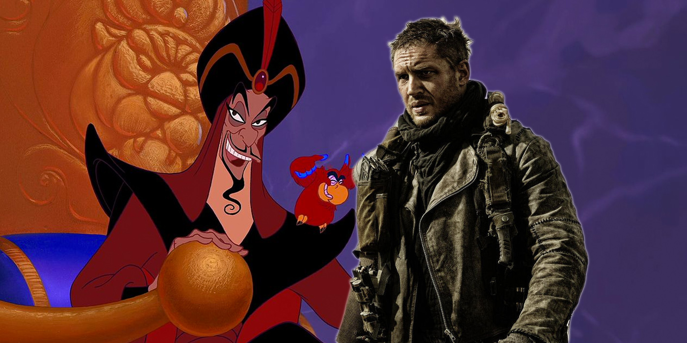 Jafar from Aladdin and Tom Hardy as Mad Max